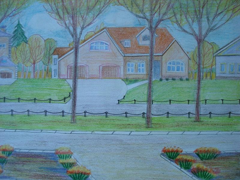 Рисунки на тему будущие нашего села